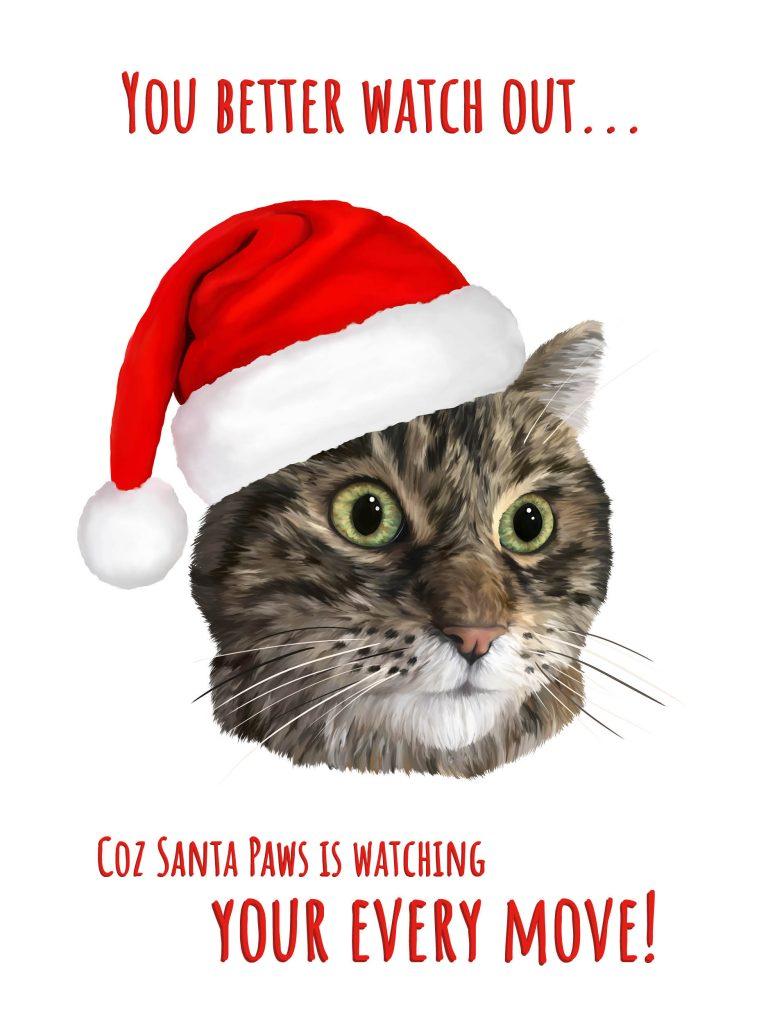Carolling Tabby Cat