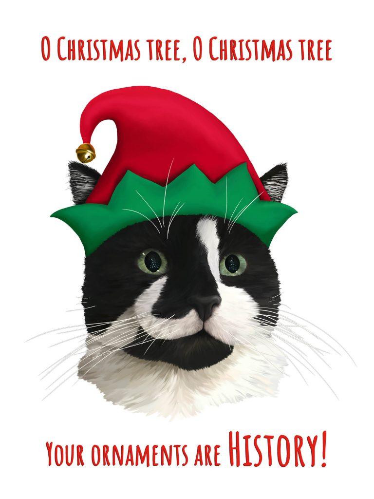 Carolling B&W Tuxedo Cat