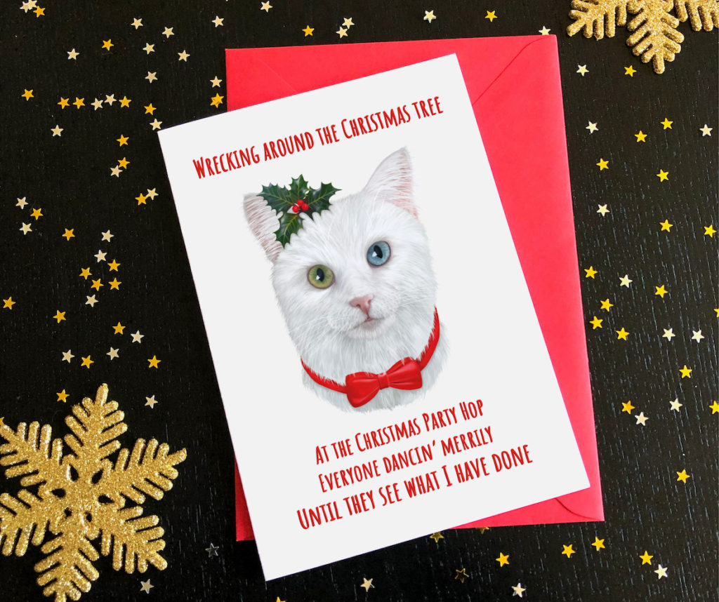Cat card with envelope